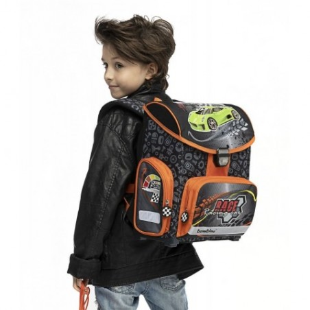 Tornister szkolny dla chłopca BAMBINO RACE w samochody