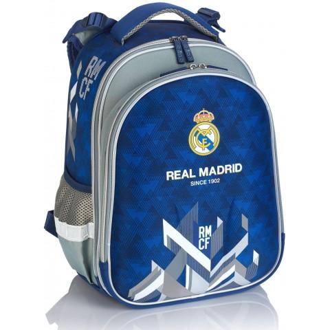 Tornister plecak szkolny ergonomiczny Real Madryt niebiesko-szary RM-170