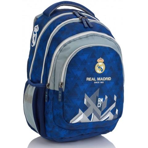 Plecak szkolny Real Madryt RM-171 do pierwszej klasy niebiesko-szary