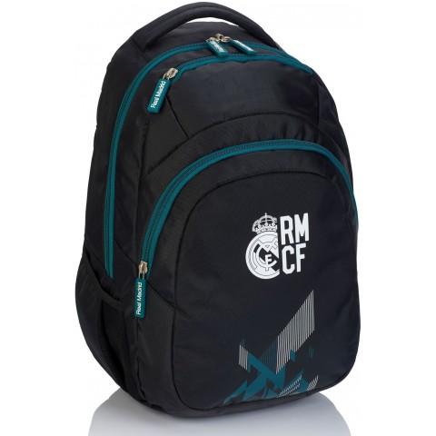Plecak szkolny młodzieżowy Real Madryt RM-189 czarny