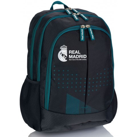 Plecak szkolny młodzieżowy Real Madryt RM-188 czarny na laptop