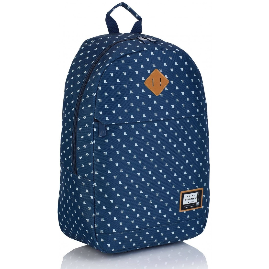 Plecak miejski dla nastolatki Head HD-361 G granatowy w białe kropki - plecak-tornister.pl