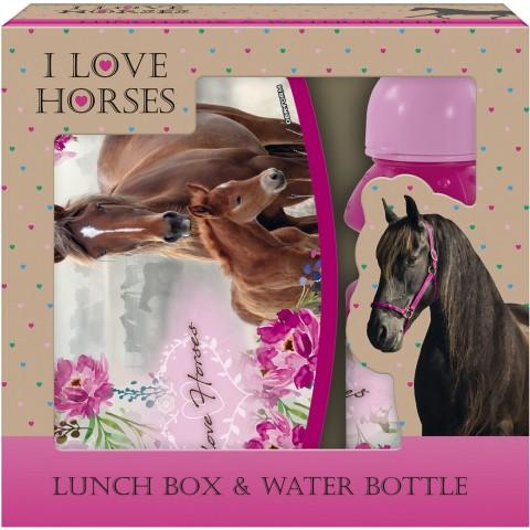 Zestaw śniadaniowy z koniem I LOVE HORSES dla dziewczynki