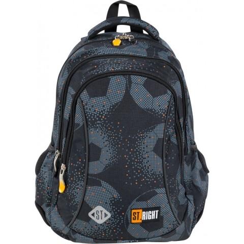 Plecak do szkoły szary dla chłopca ST.RIGHT FOOTBALL w piłkę BP26