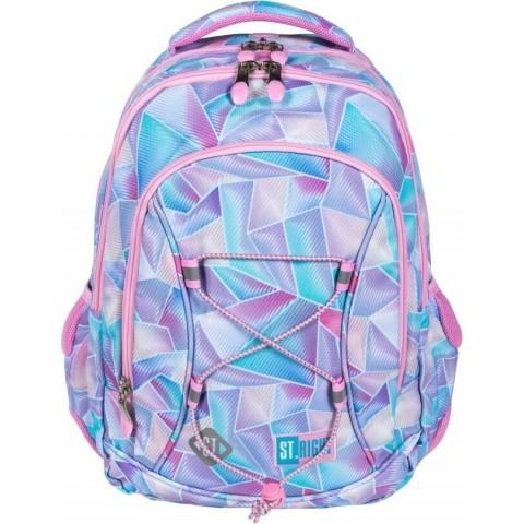 Plecak dla dziewczynek z klas 1-3 HOLO ST.RIGHT geometryczny pastelowy BP32