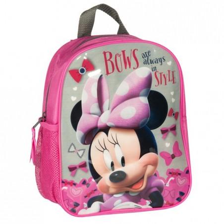 Plecaczek Myszka Minnie różowo szary
