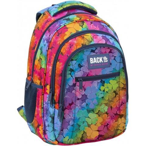 Plecak do szkoły kolorowy dziewczęcy BackUP LUCKY tęczowa koniczynka O16