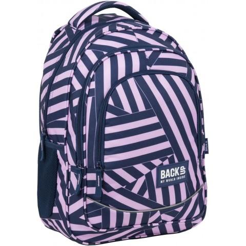 Plecak różowy do szkoły w PASKI BackUP dziewczęcy X11