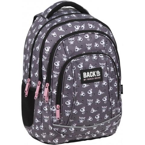 Plecak szkolny do 3 klasy dla dziewczynki BackUP SZOPY szary A26