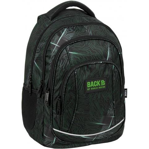 Plecak szkolny chłopięcy czarny BackUP PROCESOR do 3 klasy A55