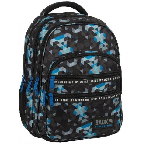 Plecak do szkoły BackUP MOZAIKA czarny chłopięcy M53
