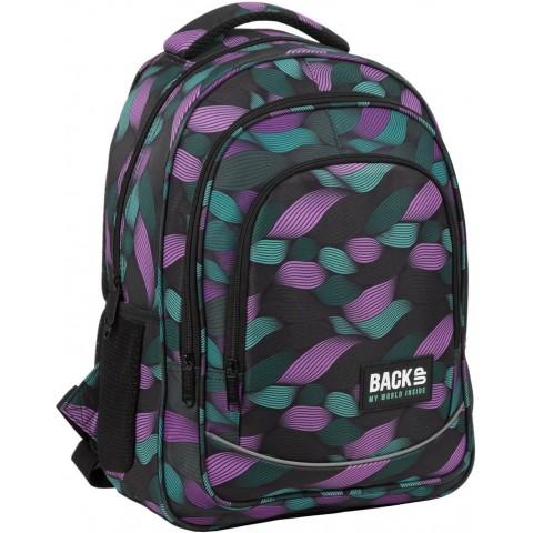 Plecak szkolny dziewczęcy BackUP FLOW kolorowe fale wstążki O10