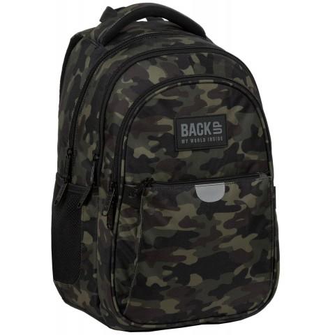 Plecak szkolny do 1 klasy BackUP chłopięcy MORO P22