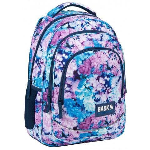 Plecak do szkoły z kwiatami BackUP BZY dziewczęcy pastelowy X23