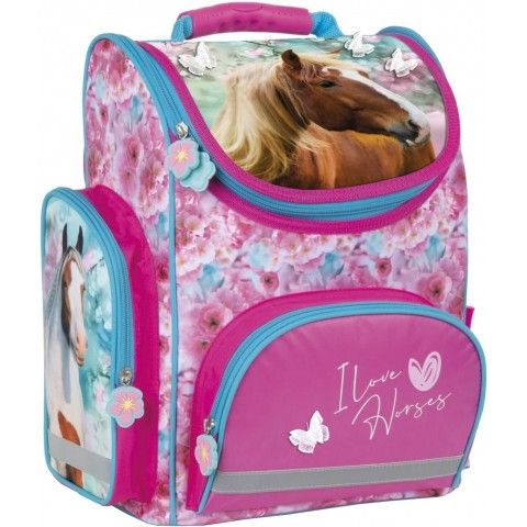 Tornister z koniem DERFORM szkolny pastelowy I Love Horses