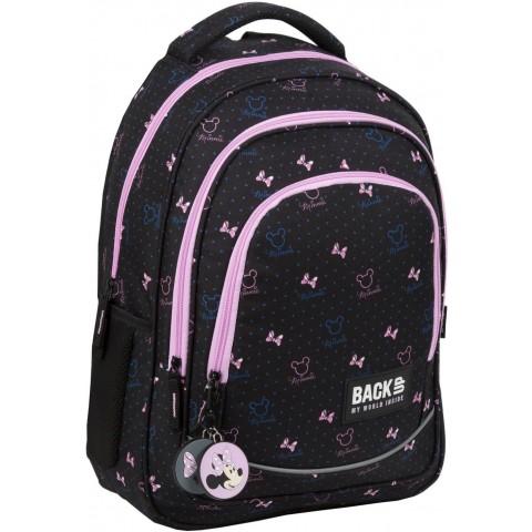 Plecak dla dziewczynki do szkoły MYSZKA MINNIE BackUP czarny XMM67