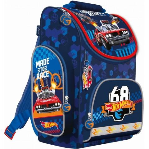 Tornister chłopięcy HOT WHEELS do 1 klasy ST.MAJEWSKI niebieski w auta