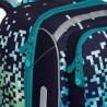 Tornister chłopięcy Topgal piksele niebieskie klocki świecący BEBE 20012 B czarny