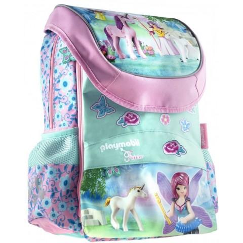 Plecak tornister pastelowy dziewczęcy PLAYMOBIL Fairies wróżki i jednorożce PL-17