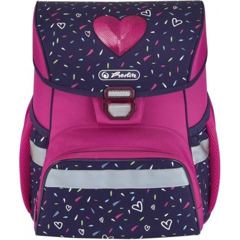 Tornister dla dziewczynki różowy HERLITZ LOOP w serce TROPICAL HEART