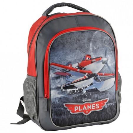 Plecak szkolny Samoloty Planes szaro czerwony