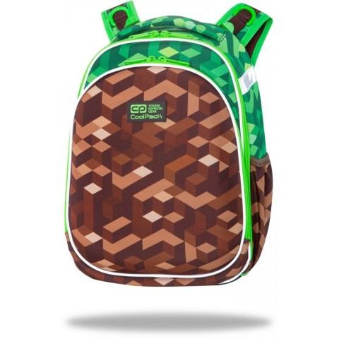 Tornister dla chłopca do szkoły zielony bloki gra CoolPack CITY JUNGLE brązowy TURTLE CP