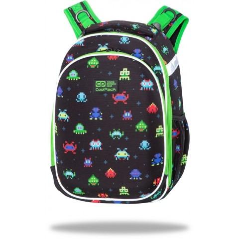 Plecak tornister czarny do 1 klasy CoolPack PIXELS pixele chłopięcy TURTLE
