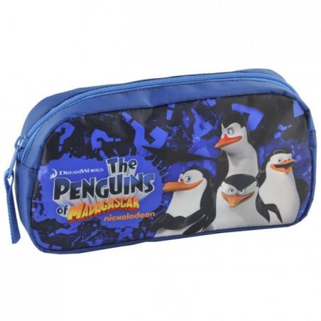 Saszetka Pingwiny z Madagaskaru granatowa