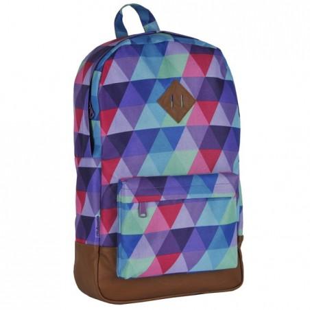Plecak młodzieżowy w kolorowe trójkąty