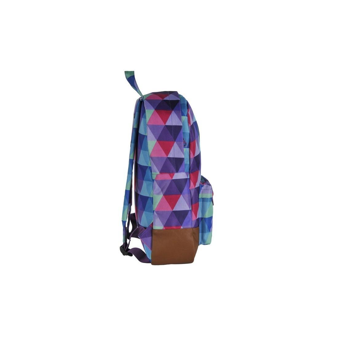 Plecak młodzieżowy w kolorowe trójkąty - plecak-tornister.pl