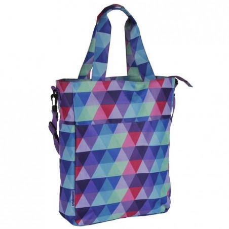 Torba na ramię miejska w kolorowe trójkąty