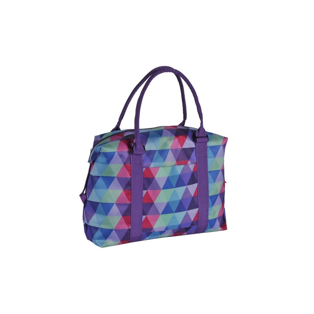 Torba na ramię w kolorowe trójkąty - plecak-tornister.pl
