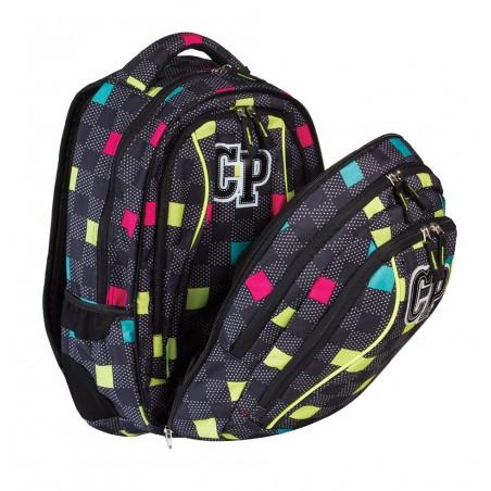 Plecak młodzieżowy CoolPack CP czarny w kwadraciki - 2w1 COMBO COLOUR TILES 472