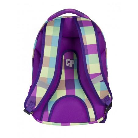 Plecak młodzieżowy CoolPack CP fioletowy w kratkę - 5 przegród COLLEGE PURPLE PASTEL 481