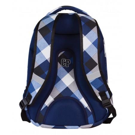 Plecak młodzieżowy CoolPack CP biało niebieski w kratkę - 5 przegród COLLEGE CAMBRIDGE 465