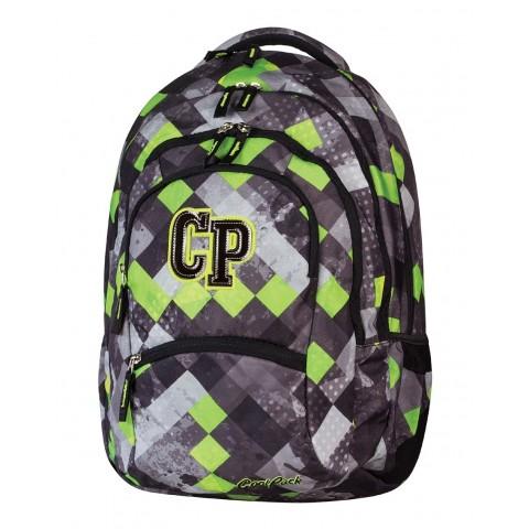 Plecak młodzieżowy CoolPack CP szary w kratkę - 5 przegród COLLEGE GRUNGE GREY 455