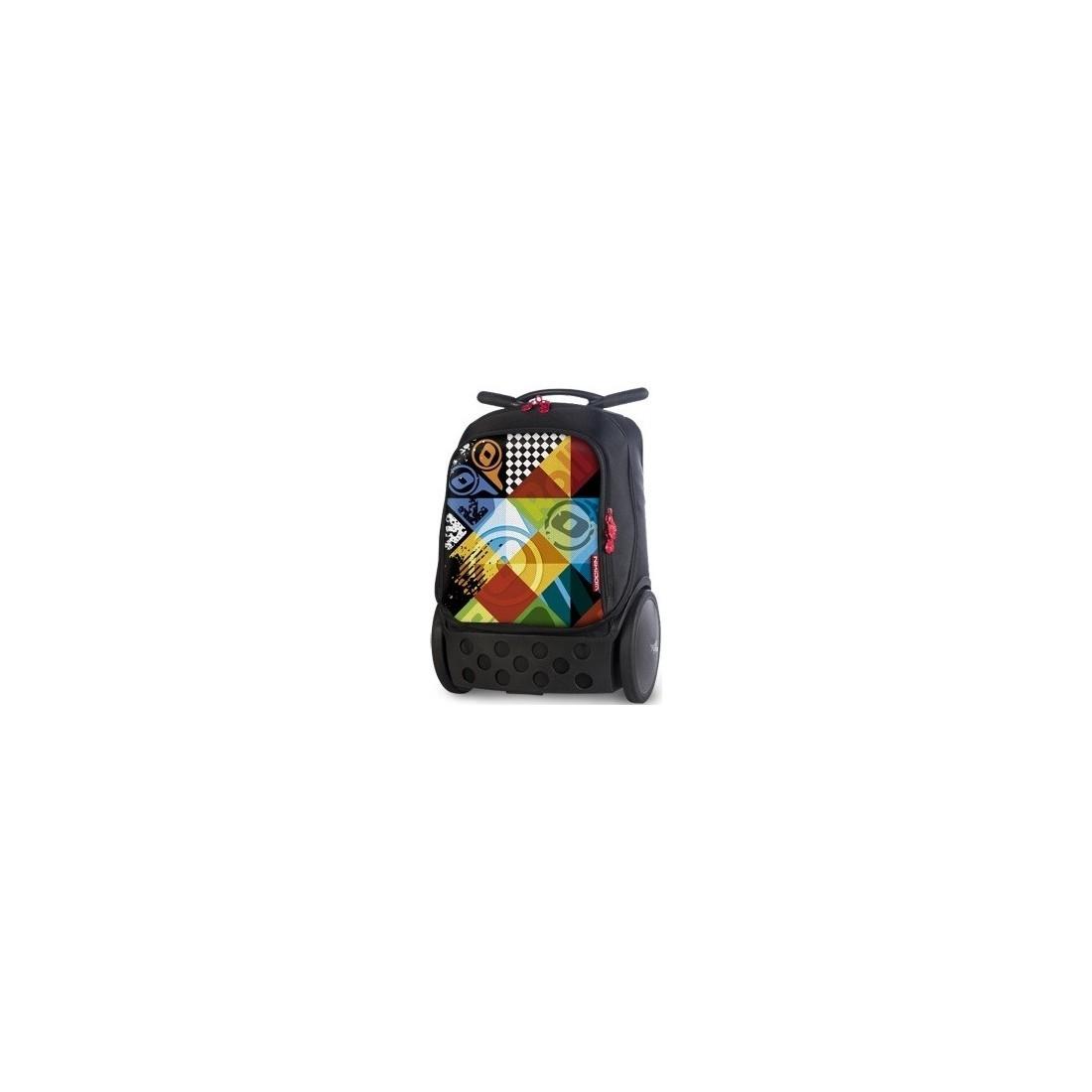 Plecak szkolny na kółkach bez szelek Roller Logomania dla chłopaka. - plecak-tornister.pl