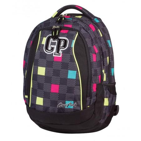 Plecak młodzieżowy CoolPack CP czarny w kwadraciki - 3 przegrody STUDENT COLOUR TILES 470
