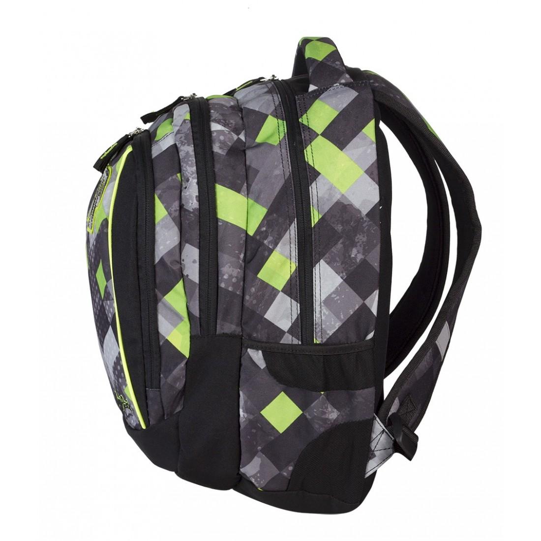 Plecak młodzieżowy CoolPack CP szary w kratkę - 3 przegrody STUDENT GRUNGE GREY 456 - plecak-tornister.pl