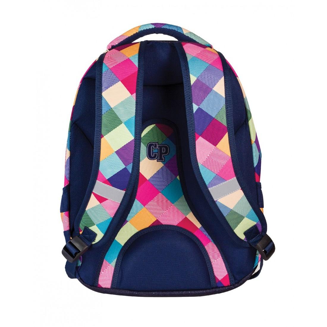 Plecak młodzieżowy CoolPack CP pastelowe kolory w kratkę - 3 przegrody STUDENT PATCHWORK 477