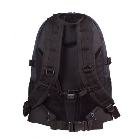 Plecak młodzieżowy CoolPack CP GRAND DERBY 368 duży czarno - szary w kratkę - 3 przegordy