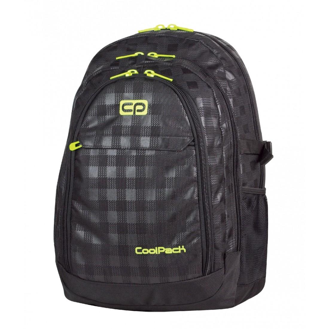 Duży plecak młodzieżowy CoolPack 415 Grand Black&Yellow dla chłopaka - plecak-tornister.pl