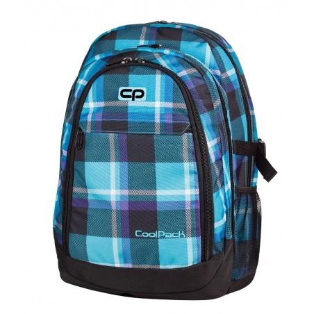 Plecak młodzieżowy CoolPack CP GRAND SCOTT 384 duży niebieski w kratkę - 3 przegrody