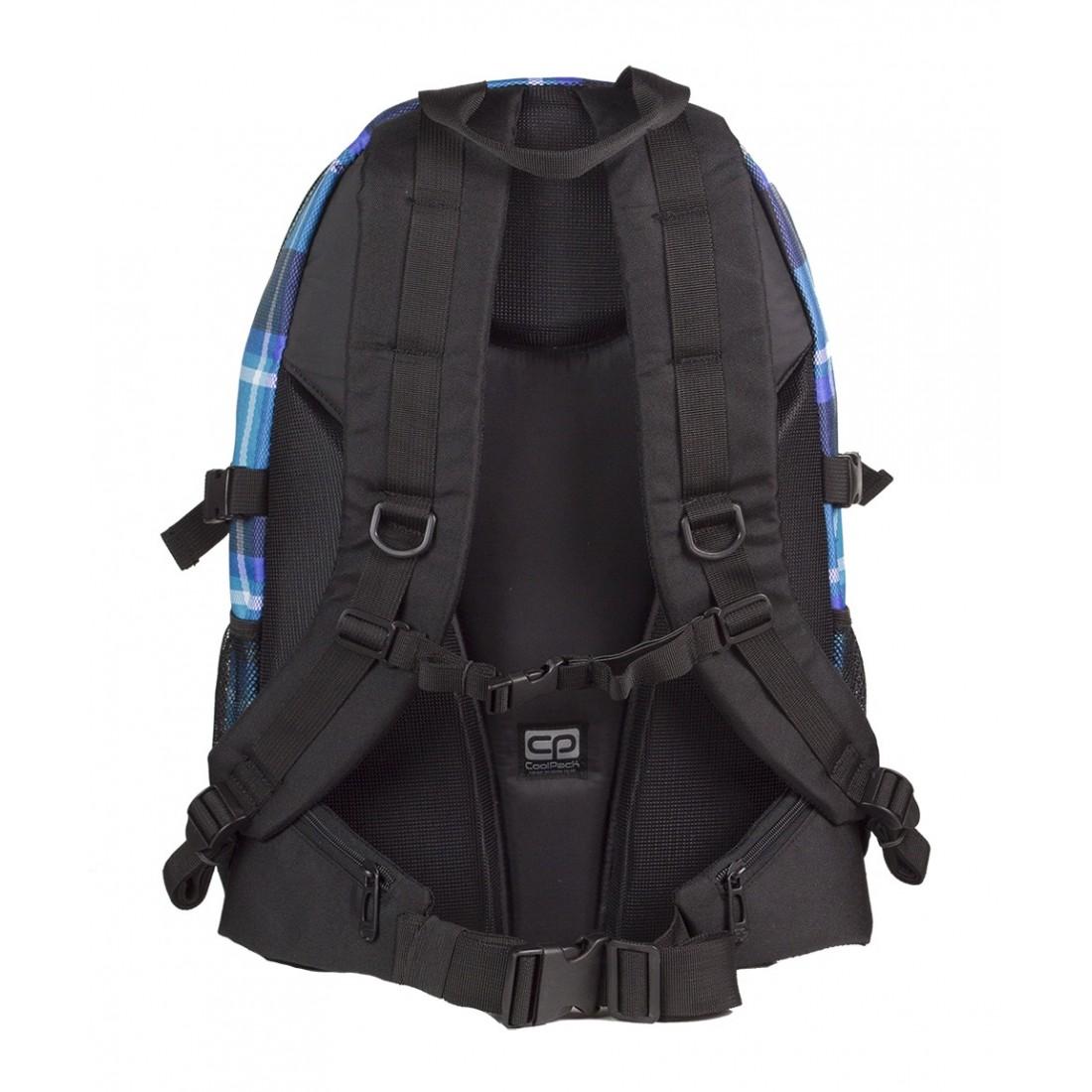 Plecak młodzieżowy CoolPack CP GRAND SCOTT 384 duży niebieski w kratkę - 3 przegr
