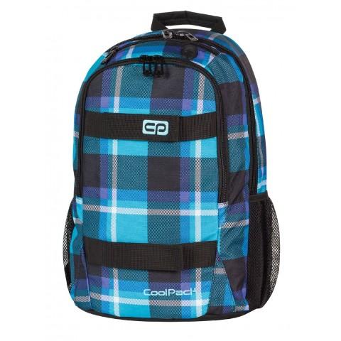 Plecak młodzieżowy CoolPack CP niebieski w kratkę ACTION SCOTT 385