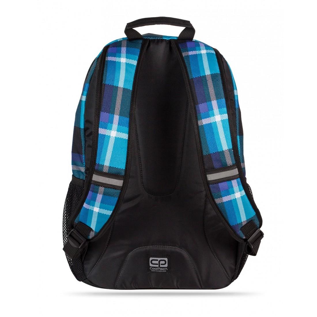 Plecak młodzieżowy CoolPack CP niebieski w kratkę ACTION SCOTT 385 - plecak-tornister.pl