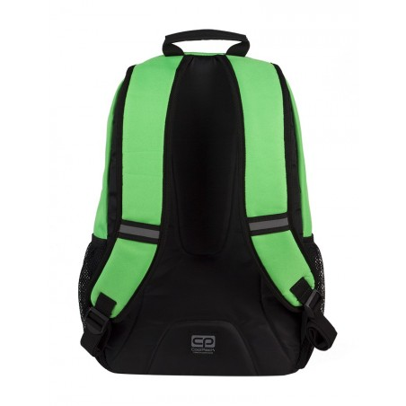 Plecak młodzieżowy CoolPack ACTION 2 przegrody GREEN NEON CP 433