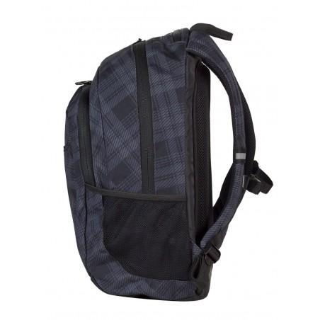 Plecak młodzieżowy na laptop CoolPack CP czarno - szary w kratkę URBAN DERBY 371