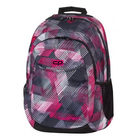 Plecak młodzieżowy CoolPack CP szaro - różowy w paski URBAN PINK MOTION 379