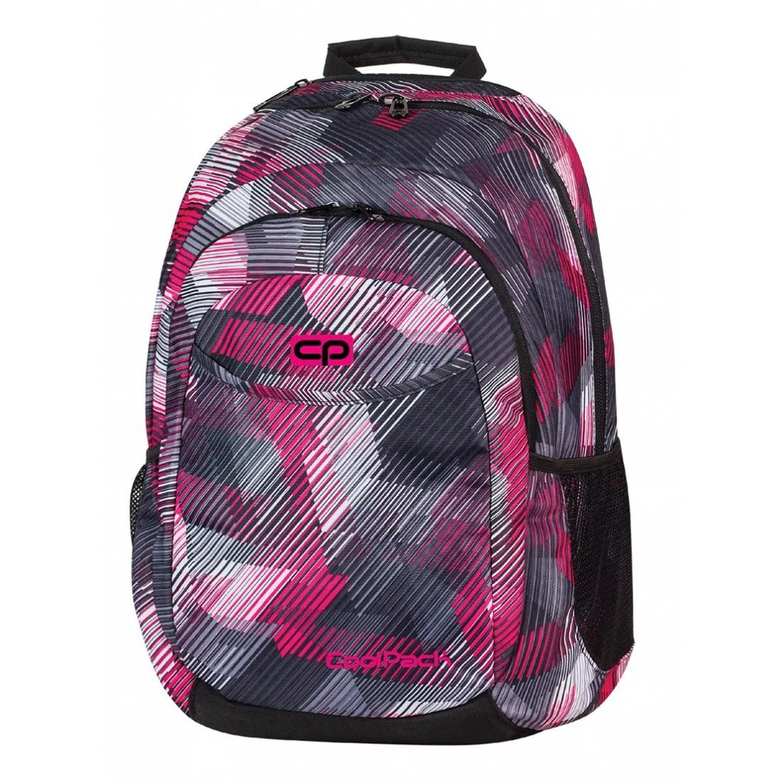 Plecak młodzieżowy CoolPack CP szaro - różowy w paski URBAN PINK MOTION 379 - plecak-tornister.pl